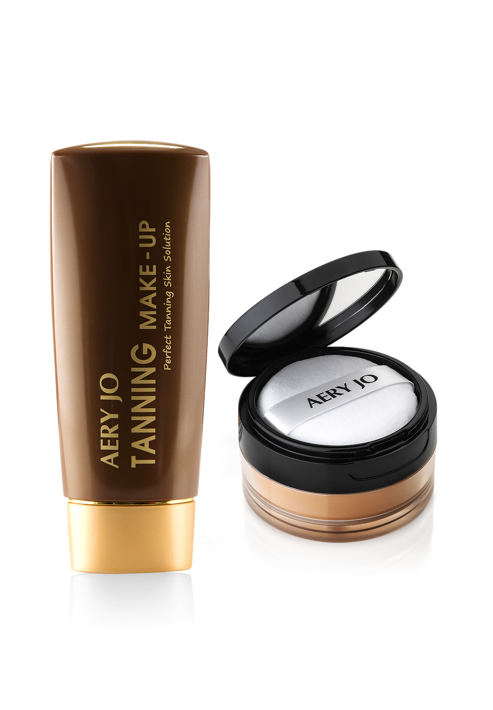 Aery Jo Dance Tanning Make Up Set - #5 Brown Stone